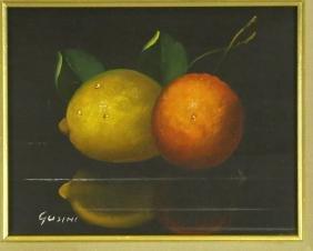 "ALFREDO GUSINI ""STILL LIFE FRUITS"" ON CANVAS"