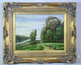 """L. STEPHANO """"LANDSCAPE"""" OIL ON CANVAS"""