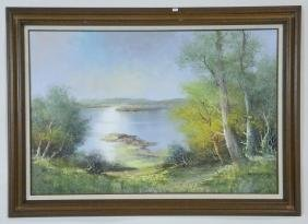 """R. BRAUNY """"LANDSCAPE"""" OIL ON CANVAS"""