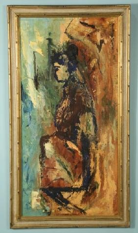 EDITH BROWN ABSTACT FEMALE PAINTING