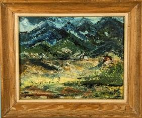 EDITH BROWN  LANDSCAPE OIL ON CANVAS PAINTING