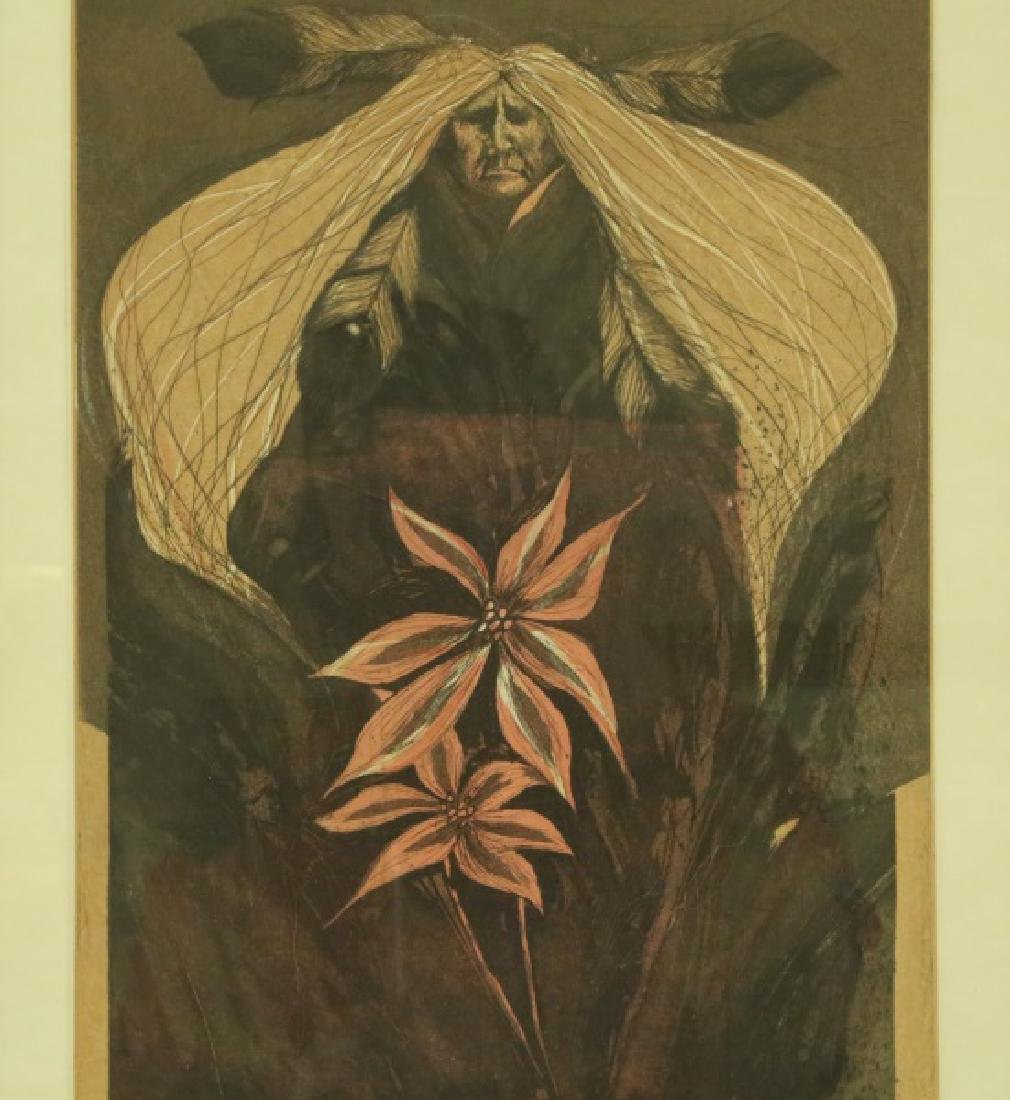 """""""NIGHT FLOWERS"""" SIGNED & NUMBERED PRINT, 1988"""