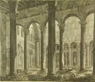 PIRANESI 17th CENTURY ARCHITECTURAL ENGRAVING