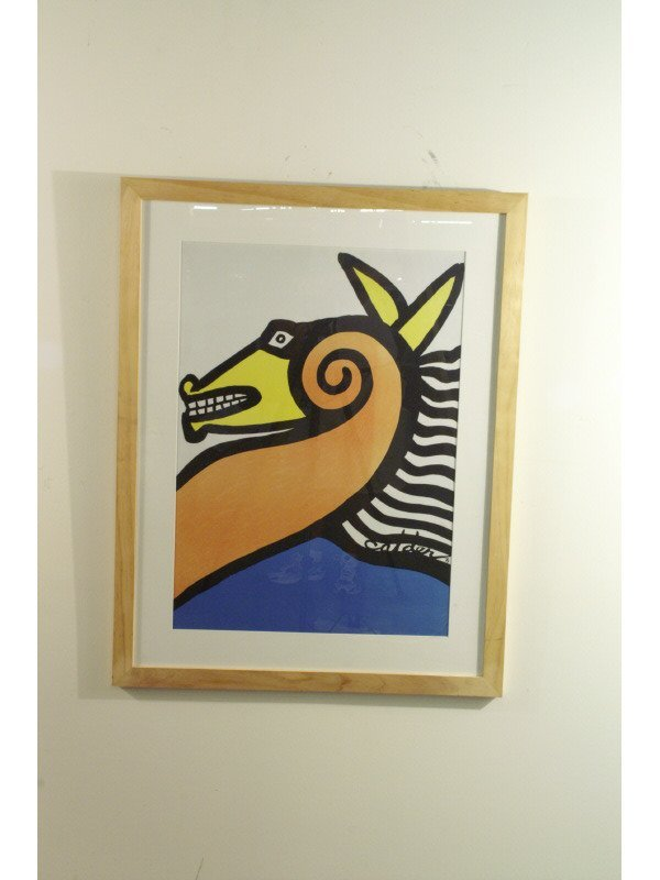 """247: Calder poster of a horse, 30"""" wide by 38"""" high"""