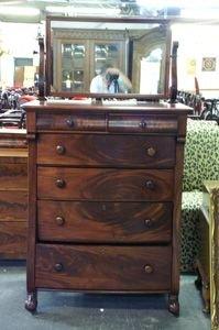 244: Empire Gentleman's chest with dressing mirror, c.