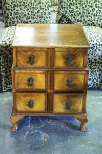 248: Walnut nightstand, c. 1920's