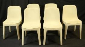 Set Of Eight Ligne Roset Italian Suede Chairs