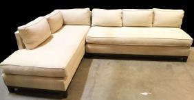 Mitchell Gold+bob Williams Linen Sectional Sofa