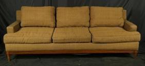 Mid-century Danish Modern Sofa In Brown Linen