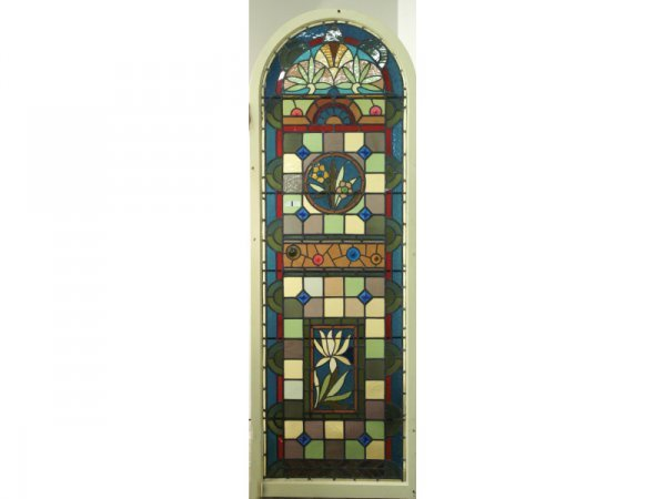 1005: Large 19th C. stained glass window
