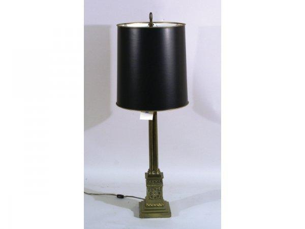 1202: Brass Quatrefoil lamp