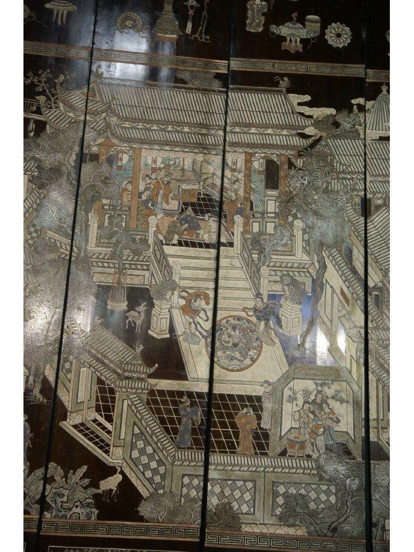 1270: Twelve panel coromandel screen Chinese