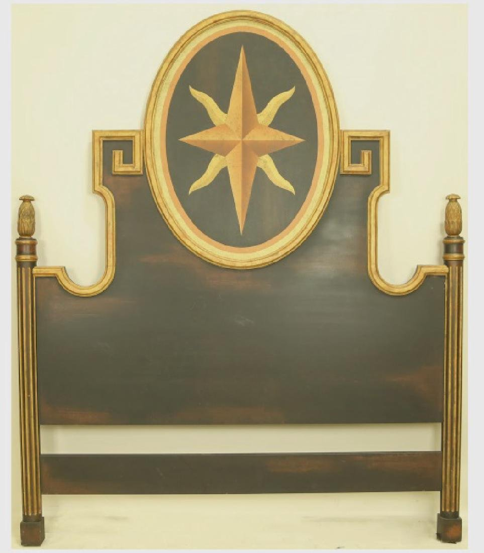 MINTON-SPIDELL NEOCLASSICAL STYLE QUEEN HEADBOARD