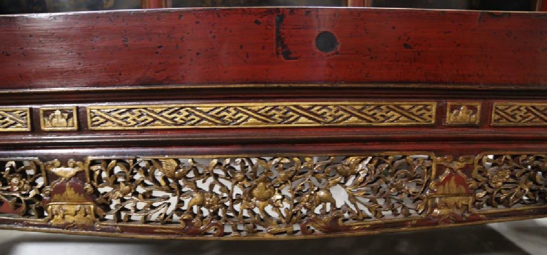 19th CENTURY CHINESE LACQUERED DAY BED - 2