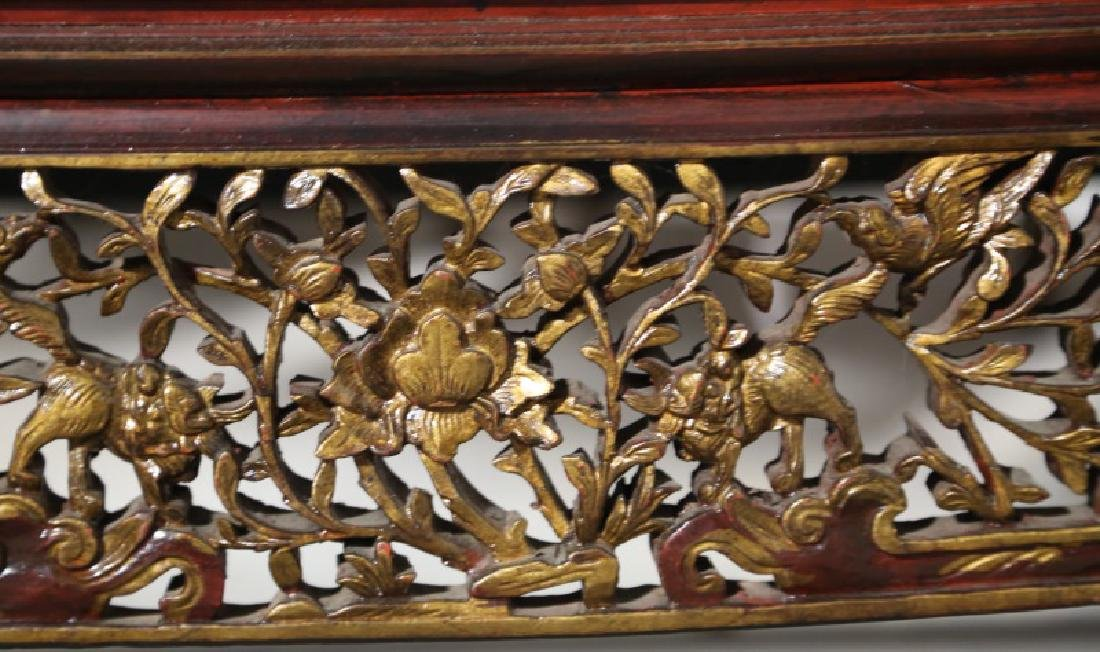 19th CENTURY CHINESE LACQUERED DAY BED - 3