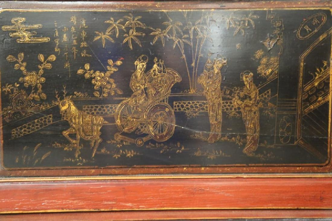 19th CENTURY CHINESE LACQUERED DAY BED - 4
