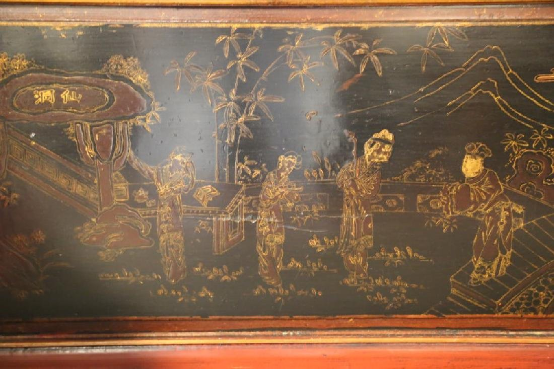 19th CENTURY CHINESE LACQUERED DAY BED - 5