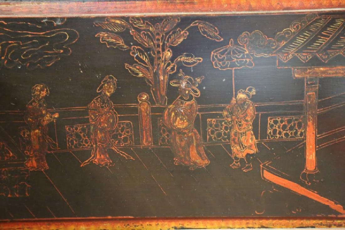 19th CENTURY CHINESE LACQUERED DAY BED - 7