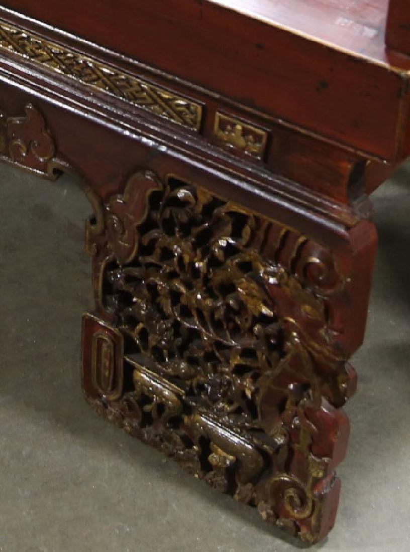 19th CENTURY CHINESE LACQUERED DAY BED - 8