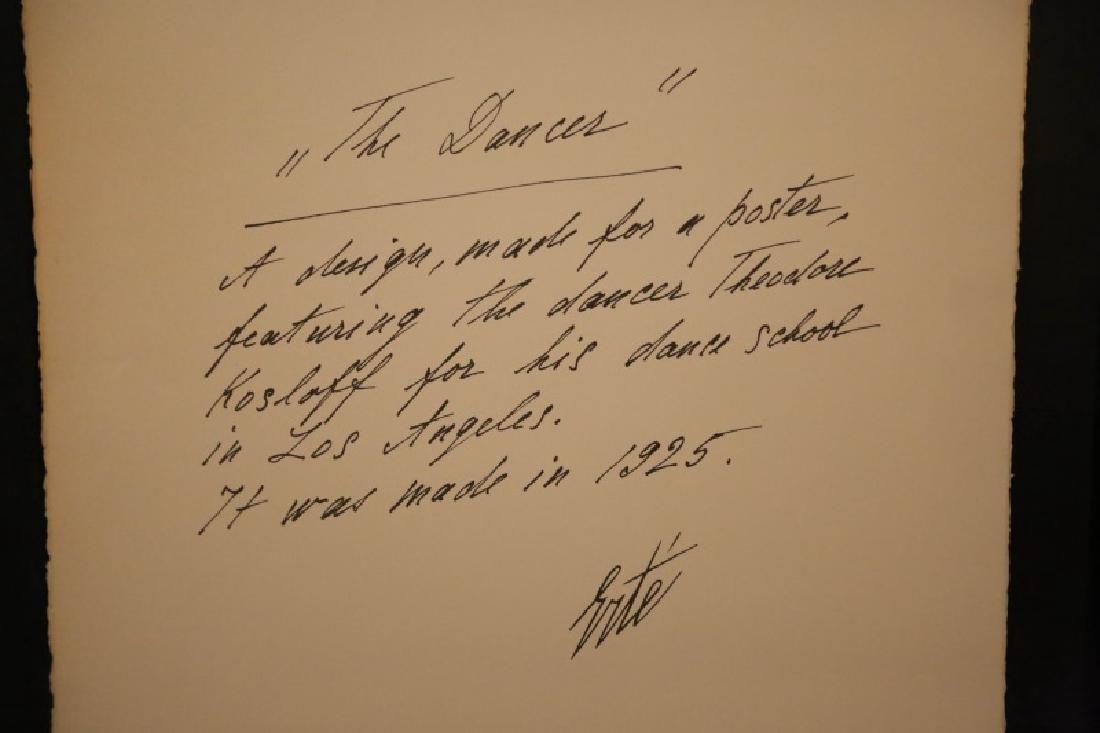 """ERTE """"THE DANCER"""" SERIGRAPH EDITION NUMBER 137/300 - 4"""