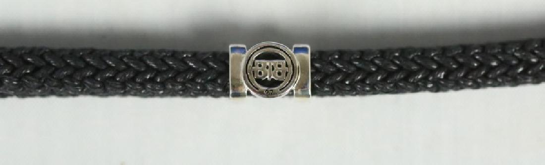 .925 S. S. BUDDHA TO BUDDHA BLACK CORD BRACELET - 2
