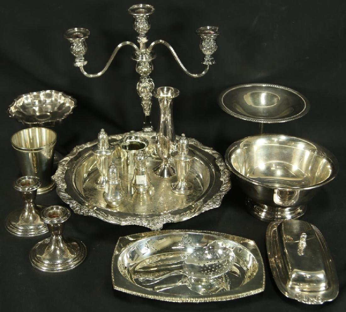 LOT OF 19 SILVERPLATED PIECES