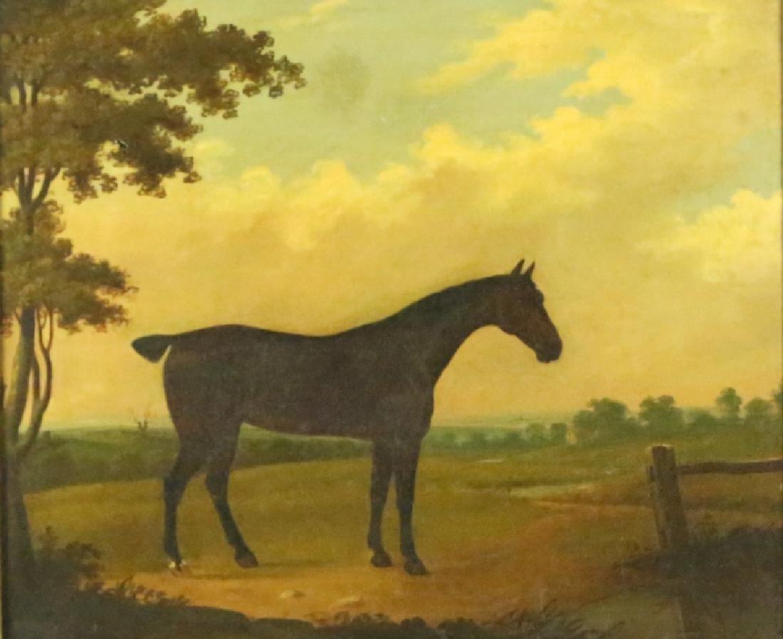 19th CENTURY PAULUS POTTER HORSE OIL ON CANVAS