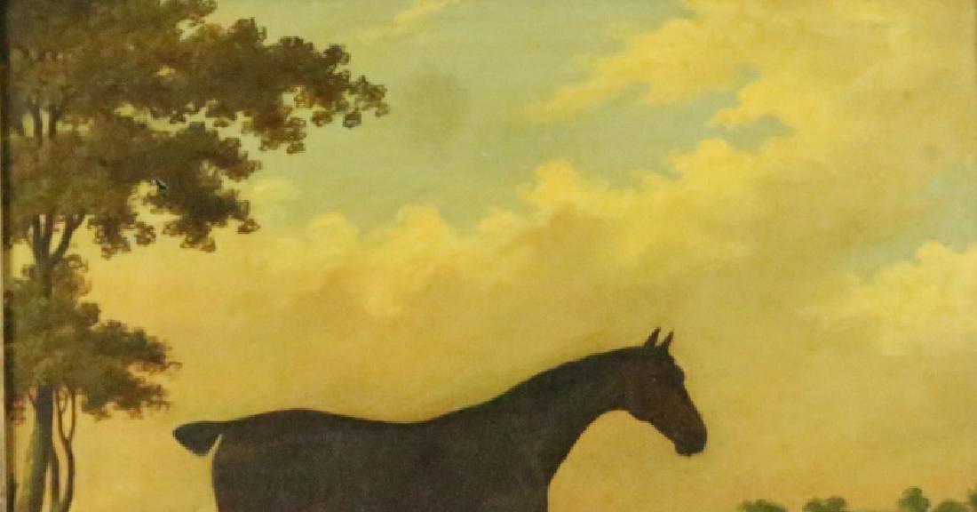 19th CENTURY PAULUS POTTER HORSE OIL ON CANVAS - 4