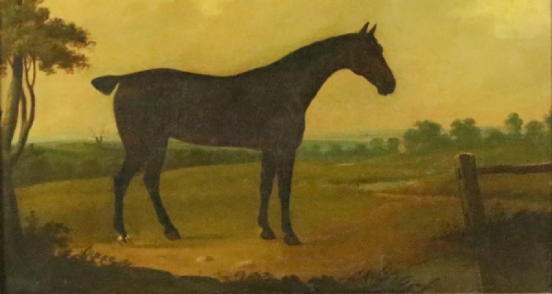 19th CENTURY PAULUS POTTER HORSE OIL ON CANVAS - 5