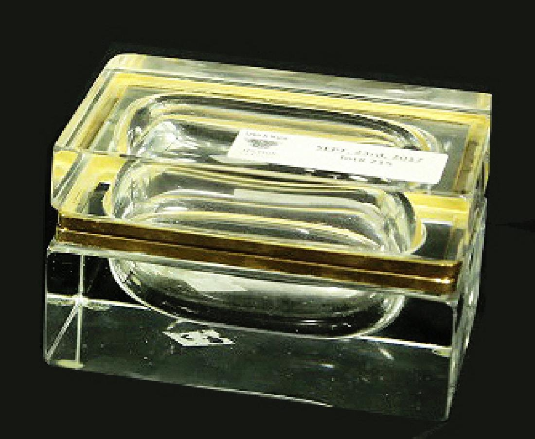 PAIR OF CUT GLASS FRENCH CIGARETTE & CIGAR BOXES - 3