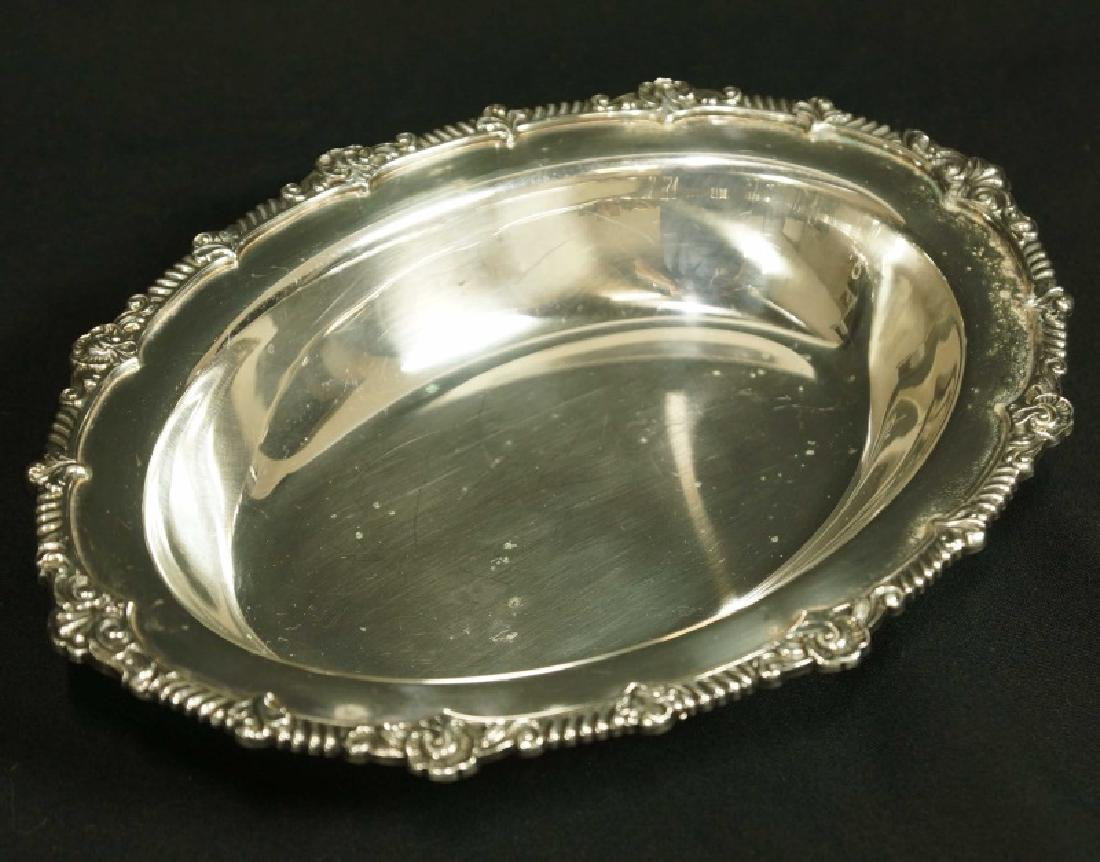 PAIR OF SILVERPLATED LIDDED SERVING DISHES - 3
