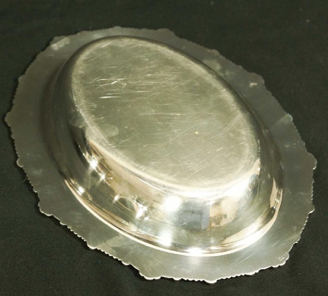 PAIR OF SILVERPLATED LIDDED SERVING DISHES - 4