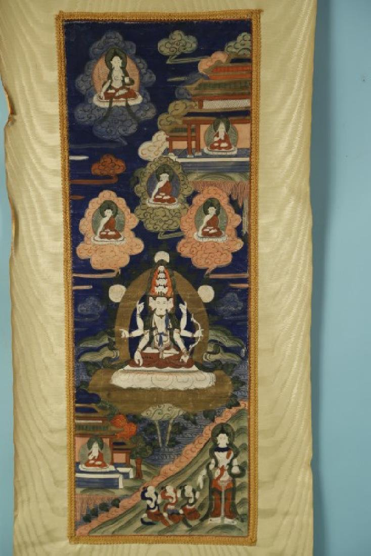 19th CENTURY TIBETAN THANGKA - 2