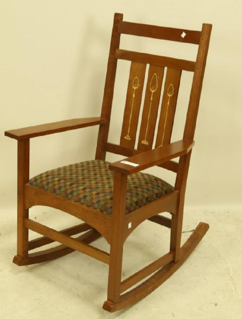 STICKLEY ARTS & CRAFTS STYLE ROCKING CHAIR