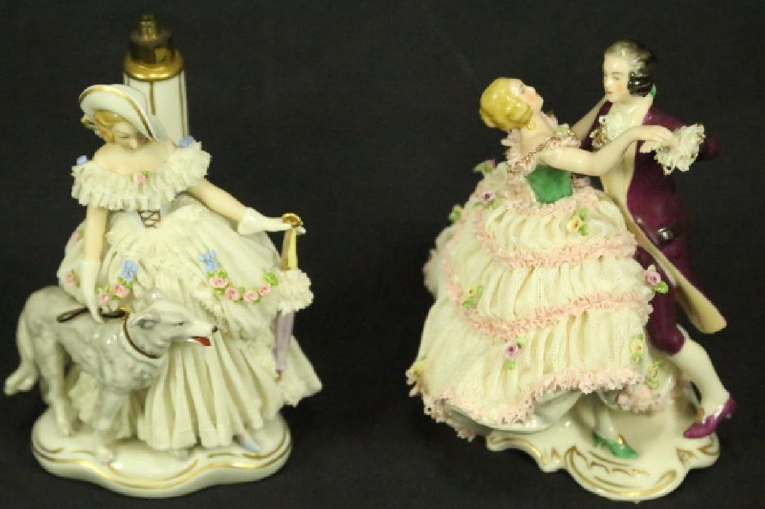 TWO EARLY 20th CENTURY GERMAN PORCELAIN FIGURES