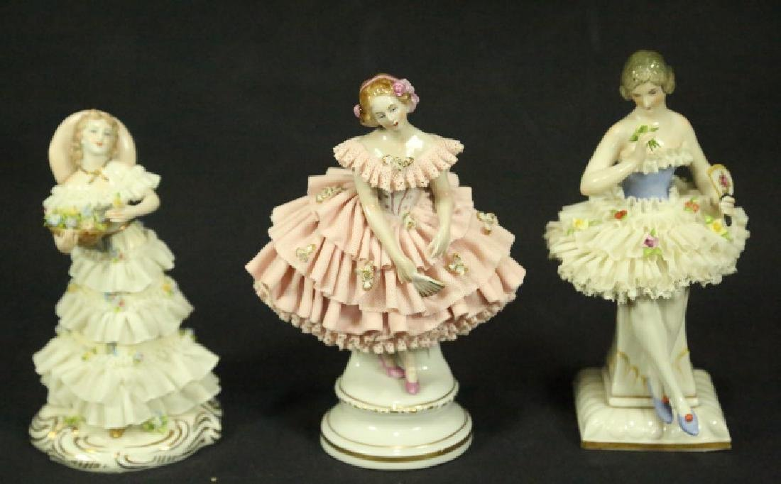 THREE EARLY 20th CENTURY GERMAN PORCELAIN FIGURES