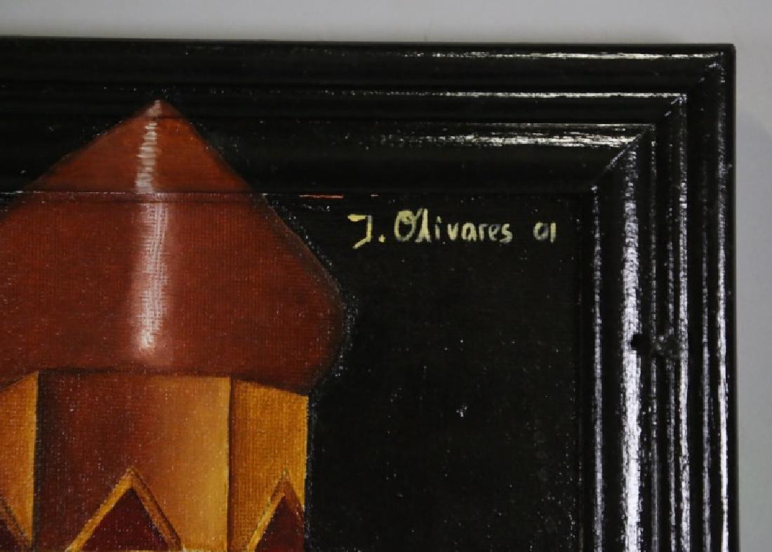 "IVETTE OLIVARES ""WOMAN AT NIGHT"" OIL ON CANVAS - 2"
