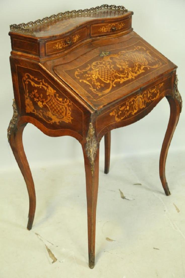 FRENCH 1880'S FALL FRONT INLAID DESK