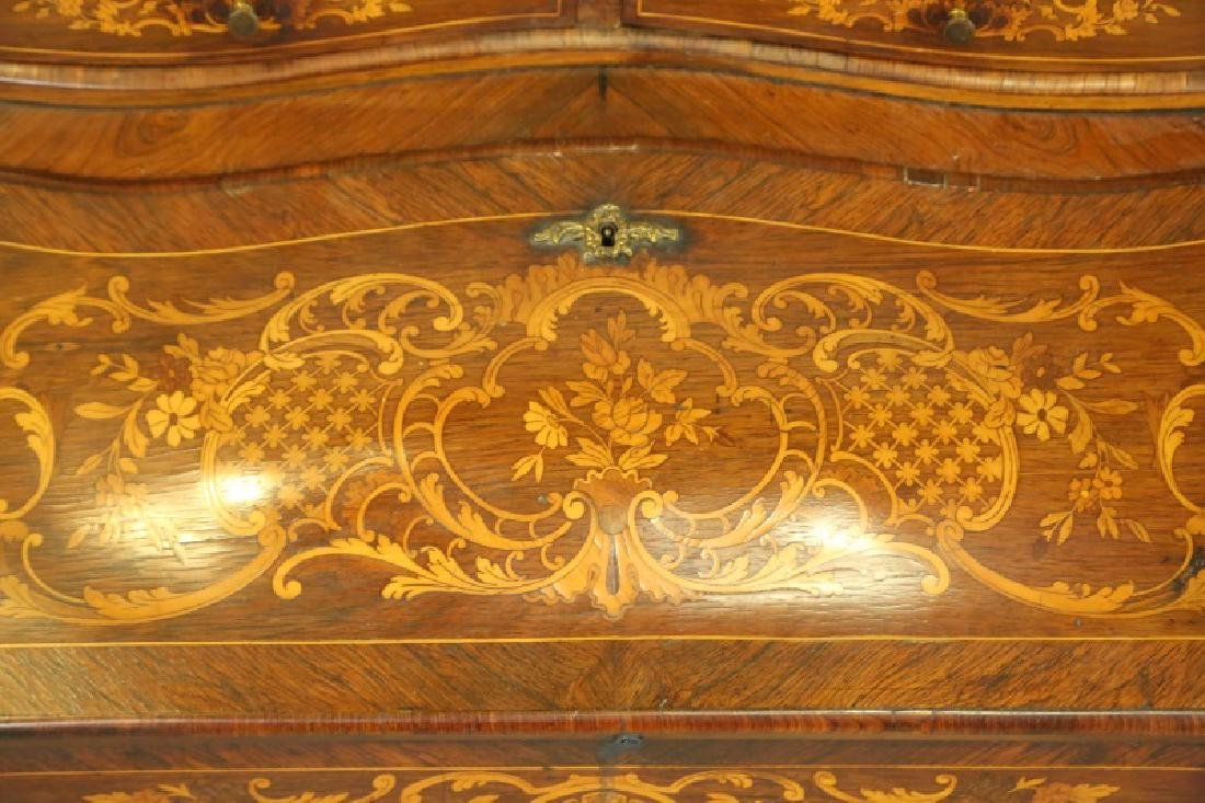 FRENCH 1880'S FALL FRONT INLAID DESK - 3