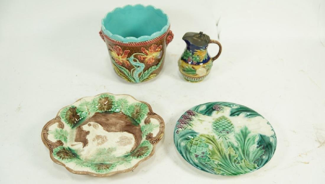 FOUR PIECE 19th CENTURY MAJOLICA SET