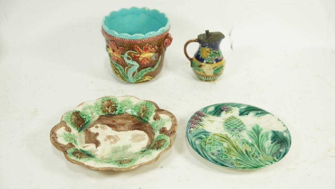 FOUR PIECE 19th CENTURY MAJOLICA SET - 2