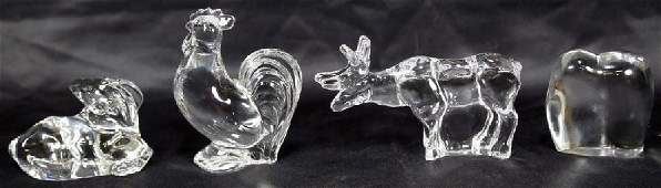 MIXED LOT OF FOUR BACCARAT CRYSTAL ANIMALS