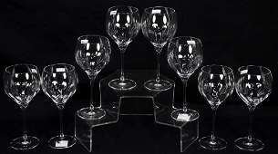 SET OF EIGHT MARQUIS BY WATERFORD CRYSTAL GOBLETS