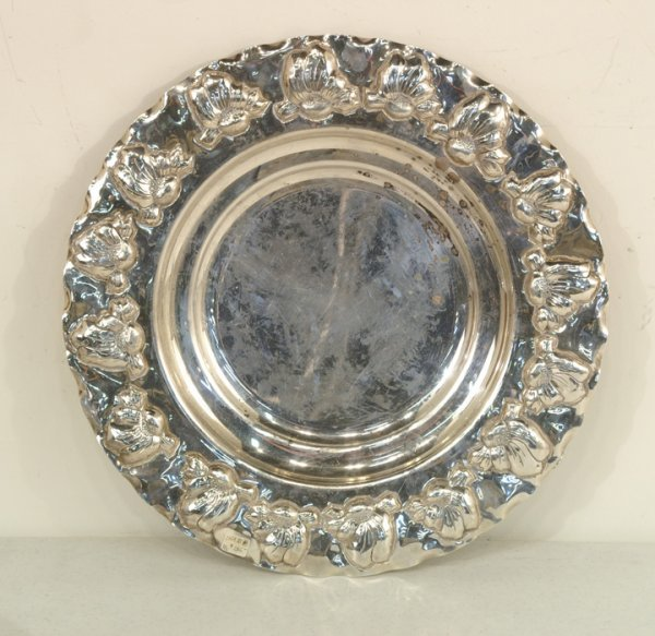 410: Silver serving tray