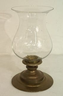 415: Candle holder with brass chimney