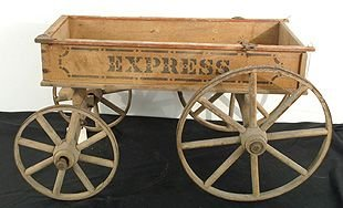 "421: Wood antique wagon ""Express"""