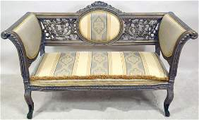 VINTAGE FRENCH STYLE CARVED  PIERECED SETTEE