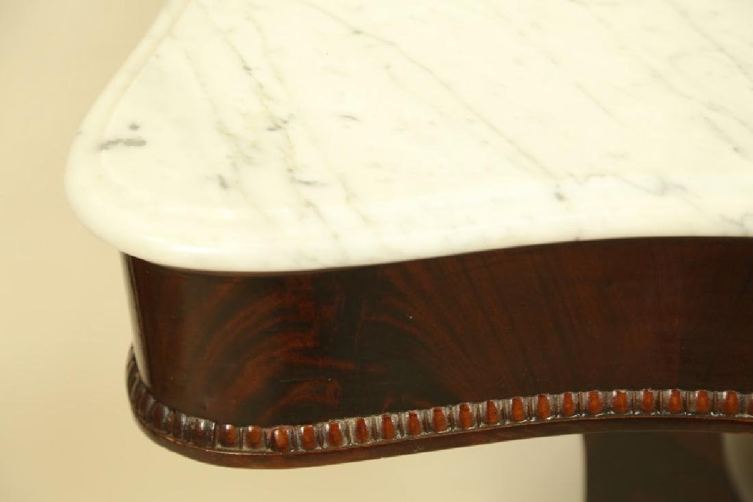 CIRCA 1840 EMPIRE MAHOGANY PIER TABLE WITH MARBLE TOP - 2