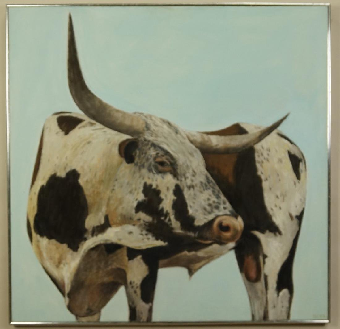 "HERBERT MEARS (NYC, 1923-1999) ""LONGHORN'"" OIL/CANVAS"