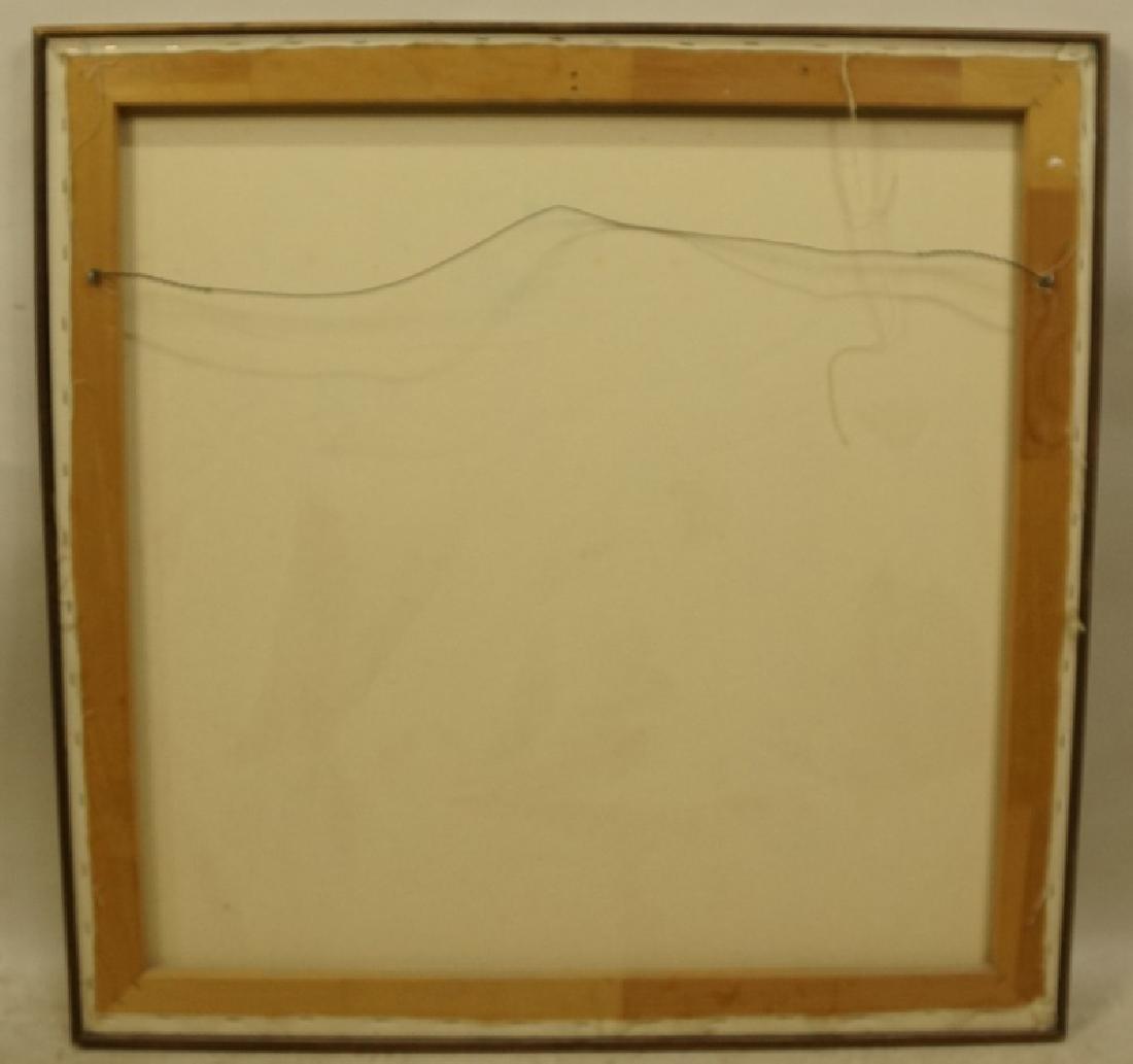 "HERBERT MEARS (NYC, 1923-1999) ""LONGHORN'"" OIL/CANVAS - 4"